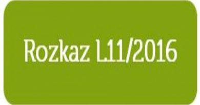 Rozkaz L.11/2016 z dnia 23 września 2016