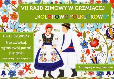 Zaproszenie na VII Rajd Zimowy w Grzmiącej