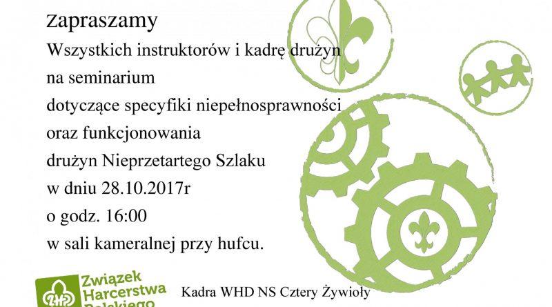 Zaproszenie – seminarium